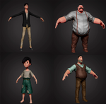 Characters for short animation by marakov