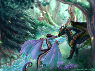 Wings of Fire - Tranquility - For April by Biohazardia