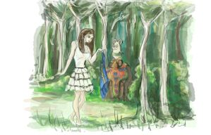 paula concept in the forest by Pachecoart