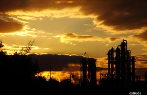 Industrial Sunset 5 by Estruda