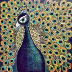 Dancing Peacock by manjulak