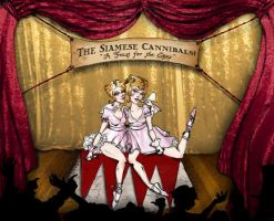 The Siamese Cannibals by rainbowblight
