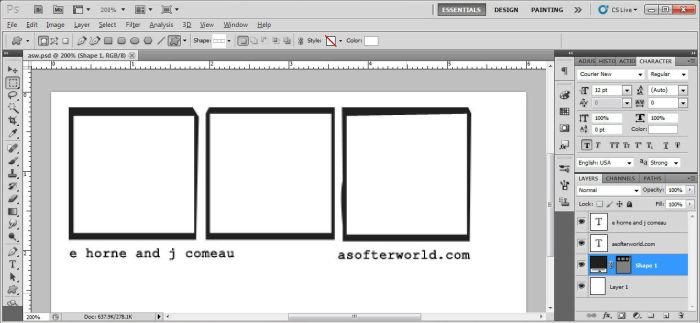 A Softer World - border/frame shape (PS) by xxtayce