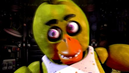 [SFM/FNaF-UCN] Chica Jumpscare GIF by PixelKirby340