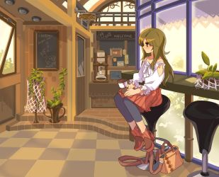 Min in cafe by empew