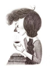 Coffee Series Postcard - Lily by chocosweete