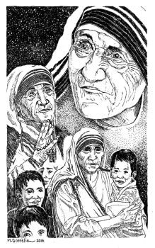 Mother Teresa by marcgosselin
