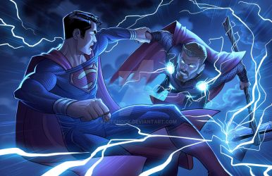 Superman Vs. Thor - Marvel/DC Crossover by kpetchock
