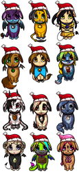 Christmas Buddy Adoptables 8D by Nestly