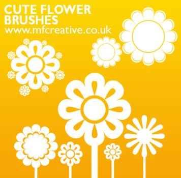 Cute Flower Brushes by mfcreative