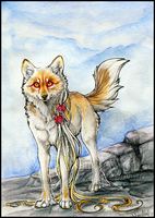 AT .: Blue Sky :. by WhiteSpiritWolf