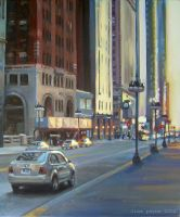 Chicago Evening - blindedangel by painters