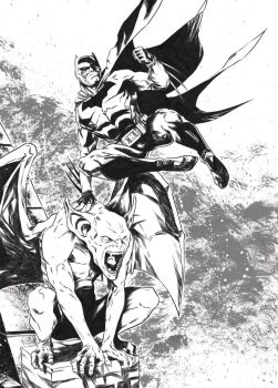 Batman [Pencil and ink on paper - A3] by LudoDRodriguez