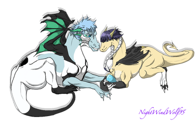Ankoku-Sensei Request: GrimmxSoi Dragons by nightwindwolf95