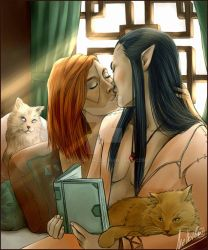 Kiss and Cats by MellorianJ
