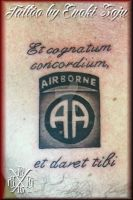 Airborne Army Tattoo by Enoki Soju by enokisoju