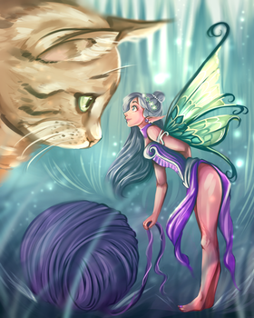 Fairy and Cat by Kachumi
