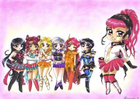 C: Group of Chibi Sailors by MTToto