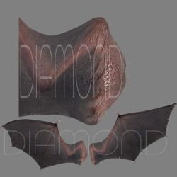 Realistic Demon Wings by JoeDiamondD