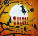Ombre Halloween Silhouette Nails by soyoubeauty