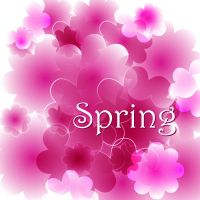 Free Fantasy Spring Pink Vector background by vectorbackgrounds