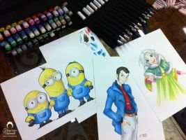 Copic markers demo by nime080