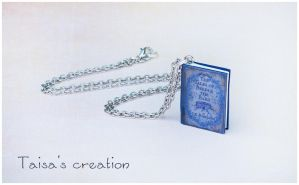 Tiny ''The Tales of Beedle the Bard'' Pendant by Taisa-Winged