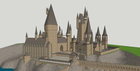 Hogwarts from Harry Potter by shad-brooks