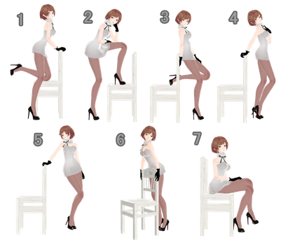 [MMD] Chair Pose Pack - DL by Snorlaxin