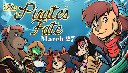 Pirate's Fate: Available March 27th! by volkenfox
