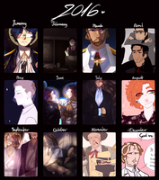 2016 art summary by lavellyn