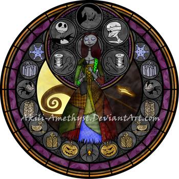 Stained Glass: Sally -remastered- by Akili-Amethyst
