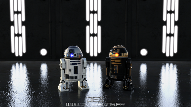 ASTROMECHS STAR WARS THE NEW FEAR by Davian-Art