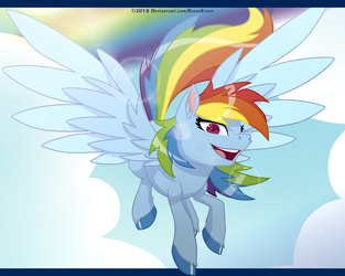 Somewhere Over the Rainbow, Dashie fly. by RavenEvert