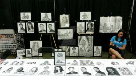 My booth in Louisville, KY with Danielle by DChan75