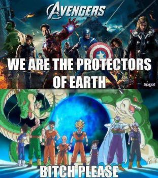 Dragon Ball Z Meets The Avengers by gamerma