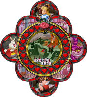 Wonderland Stained Glass by Maleficent84