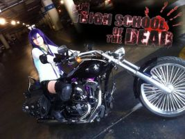 Saeko Busujima Cosplay (Let's ride...) by SapphireEagle