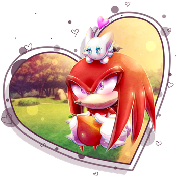 AT Oo. Knux and the little chao .oO by PauliCat-24