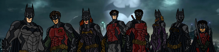 The Bat Family by RicoGracianDC