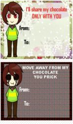 Crappy Valentine Cards Starring Chara (LATE) by Naive41Rika