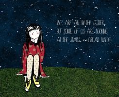 The Girl and The Stars. by ninaheather