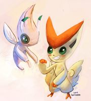 shiny celebi n victini