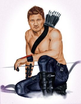 Renner Hawkeye ShonnaWhite with color by cdpetee