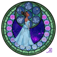Stained Glass: Tiana by Akili-Amethyst