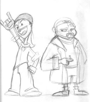 jay and silent bob by Rezz-Dragon