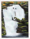 Bald River Falls Mixed Media Painting by SunsetRising-Art
