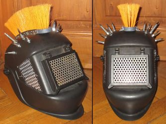 Wasteland Raider Helmet - work in progress 01... by Steam-HeART