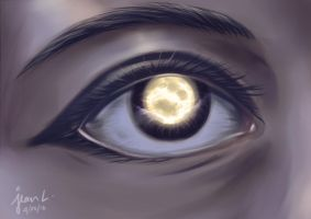 The Moon of My Eye by TheSketcher