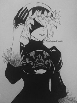 .:Inktober - Flower Crown:. by CloudyCaelum